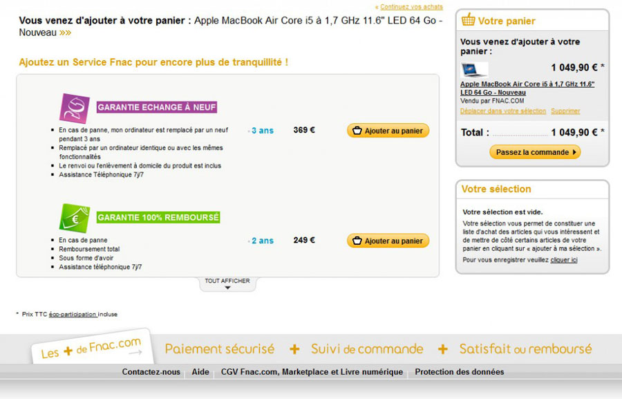 Analyse par Mathieu Fauveaux du cross-selling Fnac